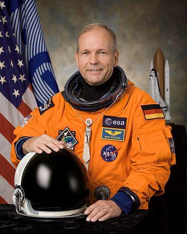 ESA astronaut Hans Schlegel, STS-122 mission specialist, NASA photo (28 September 2007) Source: Wikipedia (spaceflight.nasa.gov killed 25 Feb 2021) 384px-Hans_schlegel_v2.jpg