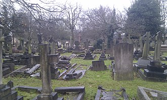 City of Westminster Cemetery, Hanwell - City of Westminster (Hanwell) Cemetery in December 2010