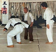 Hapkido doju Choi, Yong Sul & GM Lim, Hyun Soo at the JUNGKIKWAN 3.jpg