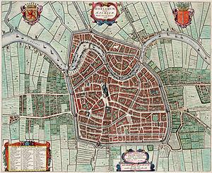 Harlemum - Haerlem - Haarlem (1646, Atlas van Loon)