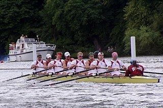 College rowing (United States) team sport version of rowing practiced by universities in the United States