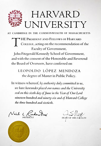 Harvard University - Master in Public Policy - Leopoldo L%C3%B3pez
