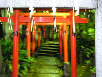 Sendagaya - Torii Gates in Hato no Mori Hachiman Shrine