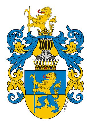 Julia, Princess of Battenberg - Coat of arms of the Hauke family