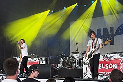 Hawk Nelson performing at Winter Jam of June 2009