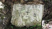 Hechtsee (Tirol) — Grenzstein 1787.jpg