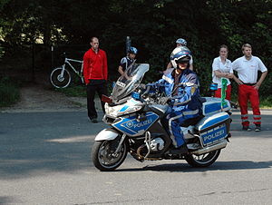 Landespolizei - Police motorcycle of the Baden-Württemberg Police