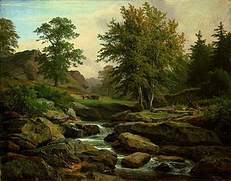 Heinrich Brandes - Landscape near Harzburg (1868)