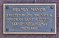 Helmly Mayoral Manor, Saint Augustine, Plaque.jpg