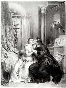 Heloise and Abelard, Achille Devaria, 19th c. engraving (Source: Wikimedia)