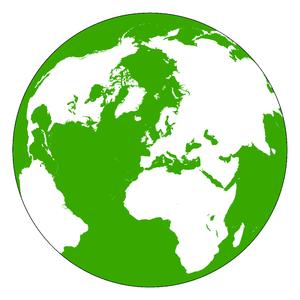 Land and water hemispheres - The Land Hemisphere