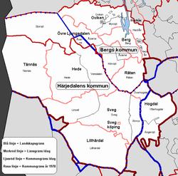 härjedalens kommun kartor
