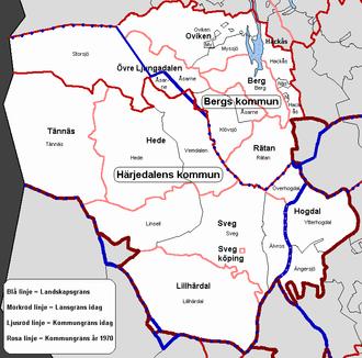 Härjedalen - Map of Härjedalen