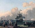 Het IJ voor Amsterdam met het fregat 'De Ploeg' - The fregate 'De Ploeg' on the IJ in Amsterdam (Ludolf Backhuysen, 1708).jpg