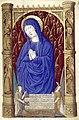 Heures de Charles VIII 016R Vierge en oraison.jpg