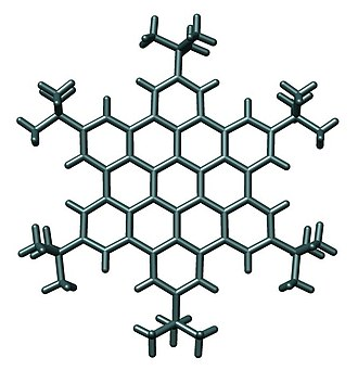 Supramolecular electronics - Crystal structure of a hexa-tert-butyl-hexa-peri-hexabenzocoronene reported by Müllen and cooworkers in Chem. Eur. J., 2000, 1834-1839.