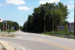 Arkansas Highway 5 - Southern terminus of Highway 5 at Highway 7 in Hot Springs