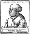 Known portrait of Paracelsus attributed to Augustin Hirschvogel.