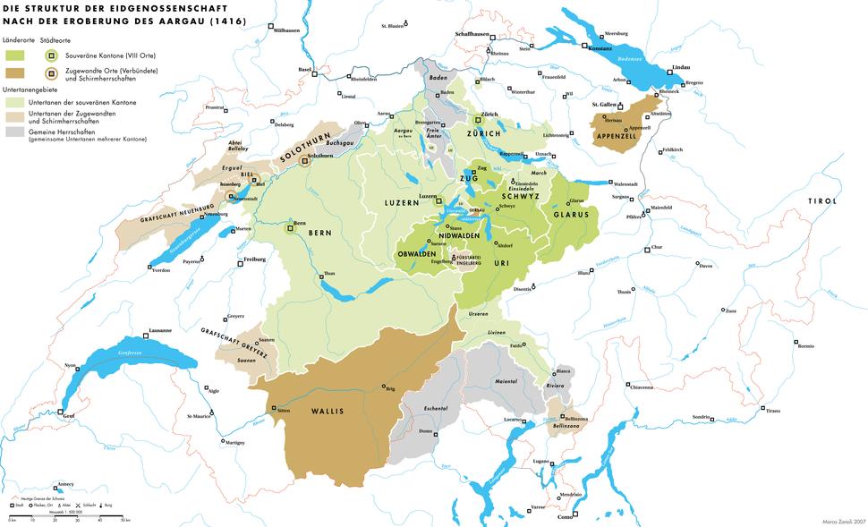 Historische Karte CH 1416