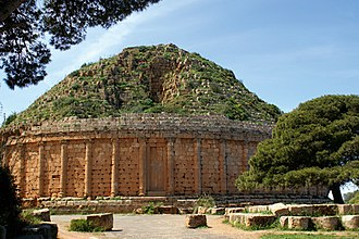 Cleopatra Selene II - The Royal Mausoleum of Mauretania, a tomb of Juba II and his wife Cleopatra Selene II in Tipaza, Algeria
