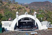 Hollywood bowl and sign