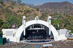Le Hollywood Bowl et le panneau Hollywood