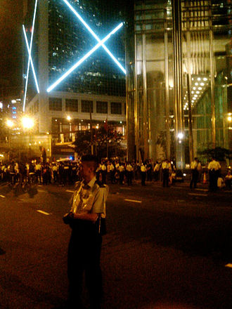 Hong Kong 1 July marches - Large number of police deployed at the scene