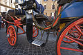 Horse drawn carriages in Piazza Spagna, Rome - 2442.jpg
