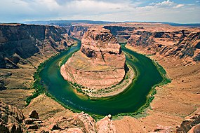 Horseshoe Bend, Arizona as seen from the lookout point