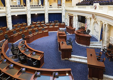 Chamber of the House of Representatives in 2018 House of Representatives Chamber, Idaho State Capitol.jpg