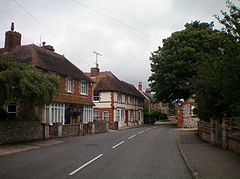 Houses in High Street, Findon, Sussex.JPG