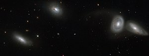 Galaxy group - Image: Hubble views bizarre cosmic quartet HCG 16