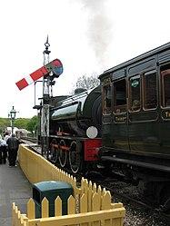 Hunslet Austerity 0-6-0ST No.WD198 Royal Engineer at Havenstreet (3500725024).jpg