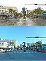 Hurricane Irma 2017 - Miami Beach - South Beach Washington Ave and 15th Street Before and After.jpg