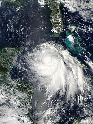 Hurricane Isidore - Hurricane Isidore approaching Cuba on September 19