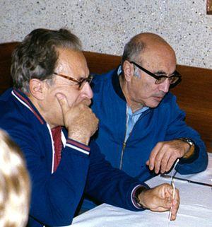 Iosif Shklovsky - Shklovsky (left) with Ya. B. Zel'dovich, 1977