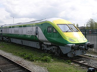Head-end power - CAF DVT with twin HEP generator sets at Colbert Station, Limerick, Ireland in 2006