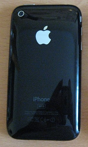 Rear of iPhone 3G