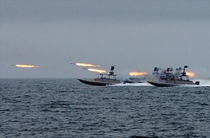 Islamic Revolutionary Guard Corps - One of the various types of fast attack craft used by the IRGC