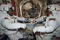 ISS-36 EVA-2 b Parmitano and Cassidy in the Quest airlock.jpg