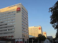 Three Ibis hotels in central Dresden