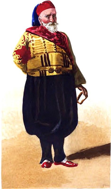Ibrahim-Pacha, aquarelle de Mérimée