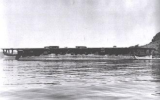 Japanese cruiser Ibuki (1943) - Image: Ibuki at Sasebo, 1945