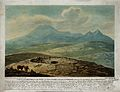 Iceland; the mound and pipe from which a geyser issues, as s Wellcome V0025219.jpg