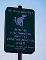 Ich bin unschuldig - Hinweis für Hundehalter Schriesheim.JPG