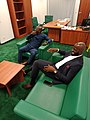 Ifeanyi and a friend in his office at the National Assembly Complex Abuja.jpg