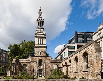 Christ Church Greyfriars - Christ Church Greyfriars, seen from the southeast