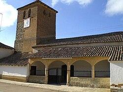 Iglesia parroquial de Santa María en Arconada, Palencia, España.JPG