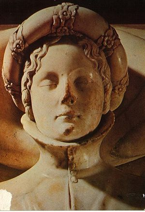 Ilaria del Carretto - The face of Ilaria del Carretto from her tomb, sculpted by Jacopo della Quercia.