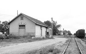 Rolling Fork, Mississippi - Illinois Central Railroad depot in Rolling Fork